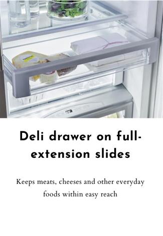 Deli drawer on full-extension slides