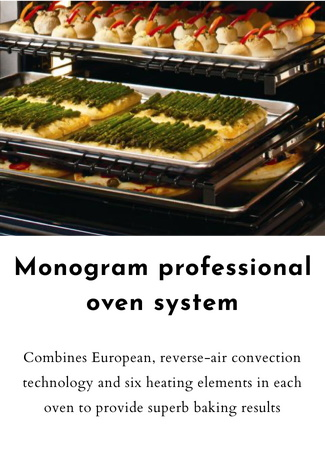 Monogram professional oven system